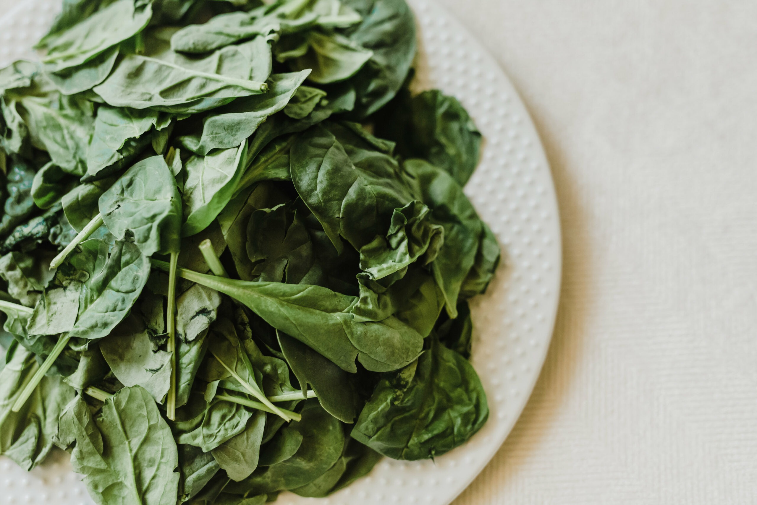 spinach beauty food for healthy skin